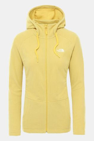 The North Face Mezzaluna Full Zip Hoodie Dames Donkergeel