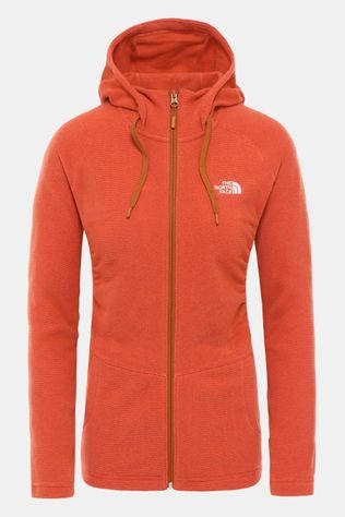 The North Face Mezzaluna Full Zip Hoodie Dames Roest