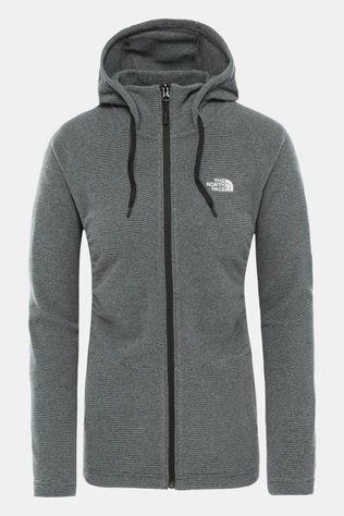 The North Face Mezzaluna Full Zip Hoodie Dames Zwart/Gebroken Wit