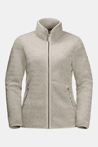 Jack Wolfskin High Cloud Jacket Fleecevest Dames Ecru