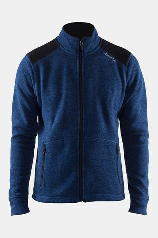 Craft Noble Zip Jas Donkerblauw/Geel
