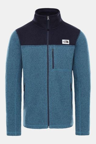The North Face Gordon Lyons Fleecetrui Met Doorlopende Rits Middenblauw/Zwart