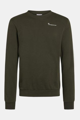 Knowledge Cotton Apparel Elm Knowledgecotton Sweat Trui Donkergroen