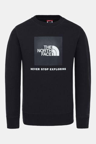 The North Face Box Drew Peak Crew Trui Junior Zwart/Lichtgeel