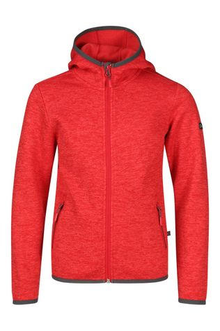 Our Planet Equinox Thick Needle Fleece Hooded Jkt Kids Rood