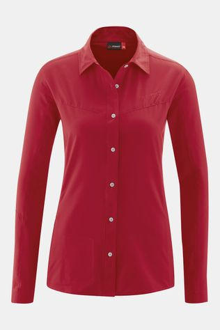 Maier Sports Sinnes Tec Blouse Dames Rood/Donkerrood