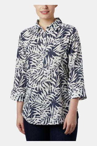 Columbia Summer Ease Shirt Dames Donkerblauw/Ass. Bloem