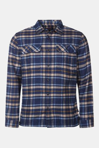 Patagonia Fjord Flannel L/S Overhemd Marineblauw/Beige