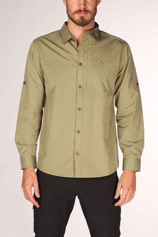 Jack Wolfskin Lakeside Roll-Up Overhemd Lichtkaki