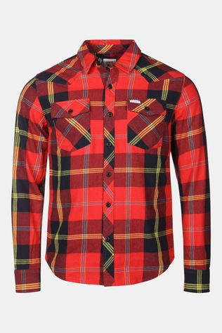 Topo Designs Mountain Shirt Rood/Donkerblauw
