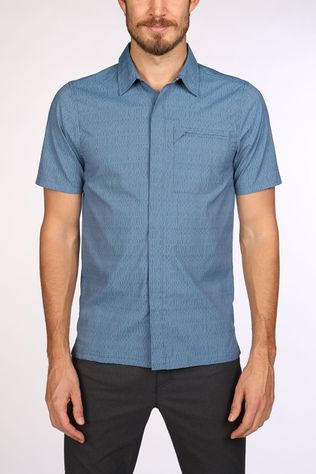 Royal Robbins City Traveler Novelty Shirt Lichtblauw