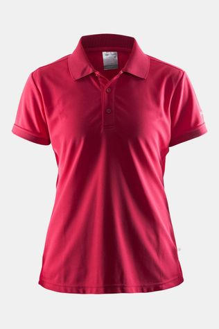 Craft Classic Pique Polo Dames Donkerroze