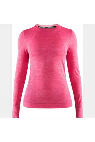 Craft Fuseknit Comfort Rn Ls Shirt Dames Middenroze