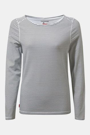 Craghoppers Nosilife Erin Longsleeve Top Dames Wit/Marineblauw