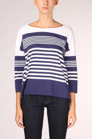 Armor Lux Stripe Top Dames Donkerblauw/Wit