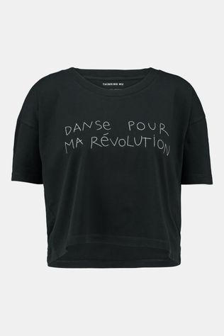 Thinking Mu Danse Ivy Cripped T-shirt Dames Zwart
