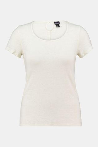 Patagonia Mount Airy Scoop Tee Dames Ecru