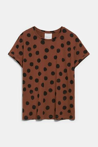 ARMED ANGELS Naalina Big Dots Shirt Donkerbruin/Zwart