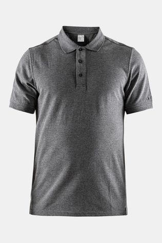 Craft Casual Pique Polo Donkergrijs Mengeling