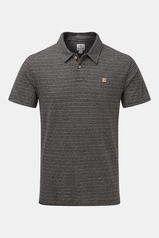 tentree Hennep Polo Zwart/Wit