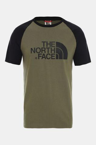 The North Face Raglan Easy SS Shirt Donkergroen/Zwart