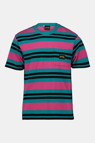 Stan Ray Yarn Dye Stripe Thick T-Shirt  Turkoois/Zalmroze