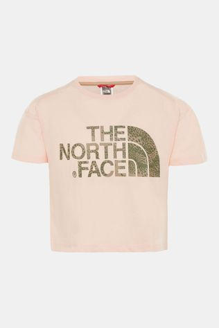 The North Face Cropped S/S Shirt Meisjes Lichtroze