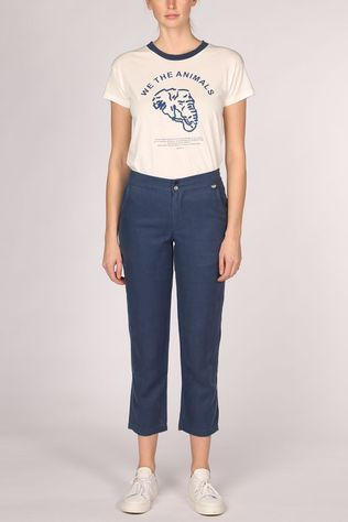 Thinking Mu Blue Hemp Dafne Broek Dames Middenblauw