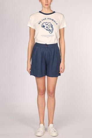 Thinking Mu Hemp Mamma Korte Broek Dames Middenblauw