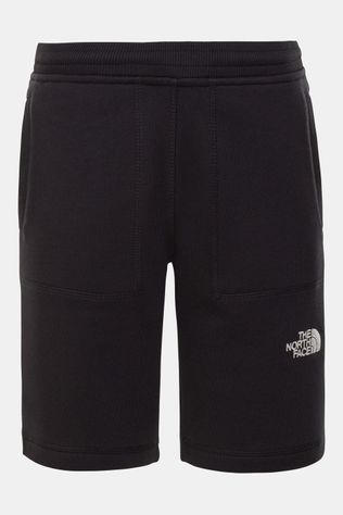 The North Face Fleece Short Junior Zwart/Wit