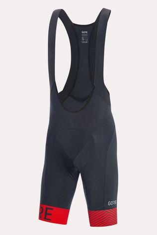 Gore Wear C5 Optiline Bib Shorts+ Zwart/Middenrood