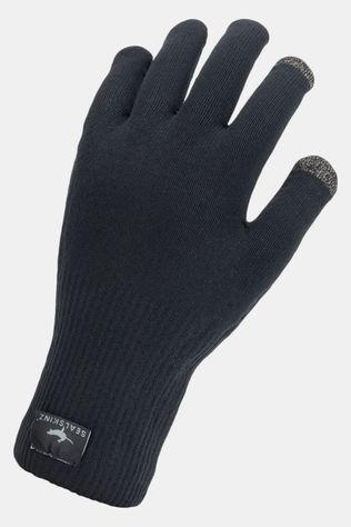 Sealskinz Waterproof All Weather Ultra Grip Knitted Fietshandschoen Zwart