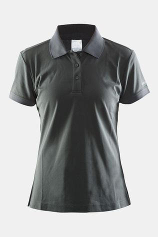 Craft Classic Pique Polo Dames Donkergrijs