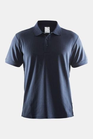 Craft Piqué Polo Marineblauw