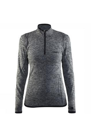 Craft Active Comfort Zip Shirt Dames Zwart/Grijs