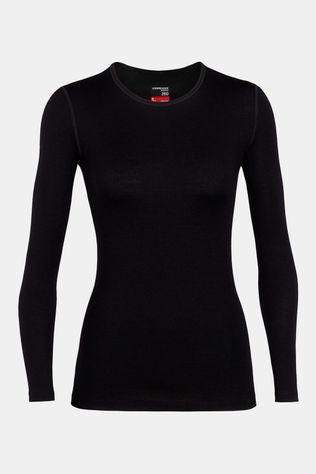 Icebreaker 260 Tech LS Crewe Thermoshirt Dames Zwart