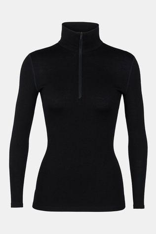 Icebreaker 260 Tech Half Zip Thermoshirt Dames Zwart