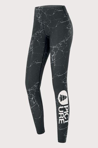 Picture Organic Clothing Xina Dames Thermo Legging Zwart/Lichtgroen