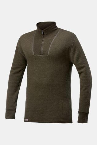 Woolpower Zip Turtleneck 200 Baselayer Unisex Donkergroen