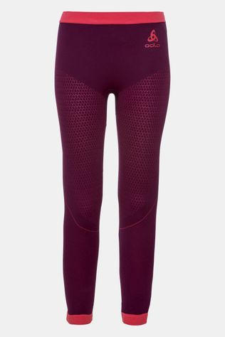 Odlo Performance Warm Legging Junior Donkerrood/Lichtrood