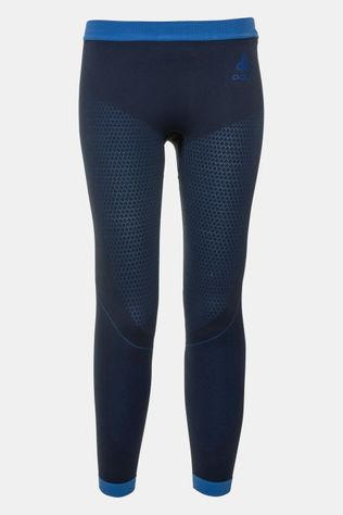 Odlo Performance Warm Legging Junior Marineblauw/Middenblauw