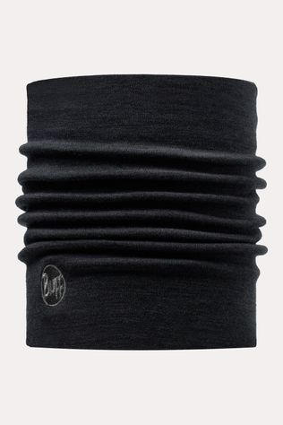 Buff Wool Thermal Black Neckwarmer  Zwart/Donkergrijs