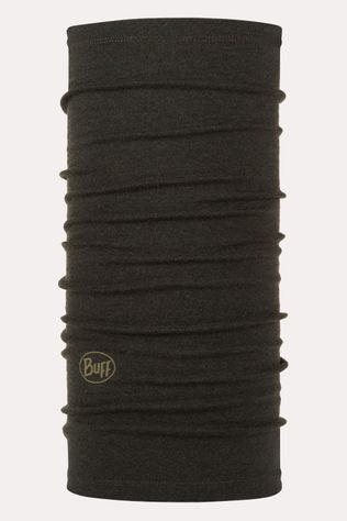Buff Midweight Merino Wool Forest Night Melange Donkerkaki
