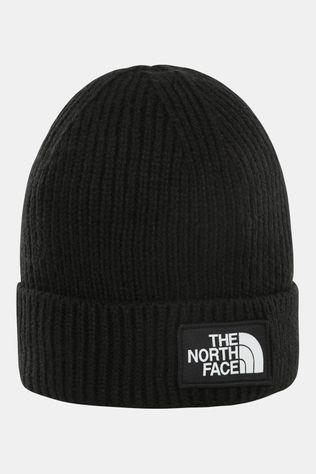 The North Face Box Logo Cuff Bean Beanie Junior Zwart