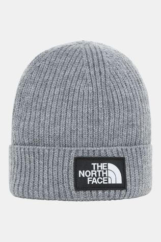 The North Face Box Logo Cuff Bean Beanie Junior Donkergrijs Mengeling