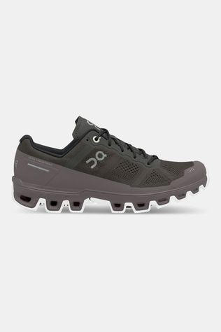 On Running Cloudventure Trail Schoen Dames Donkergrijs/Aubergine