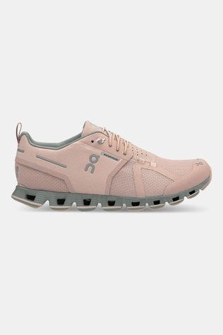 On Running Cloud Waterproof Dames Schoen Lichtroze/Middengrijs