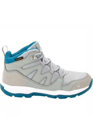 Jack Wolfskin Mountain Attack 3 Texapore Mid Junior Lichtgrijs/Turkoois
