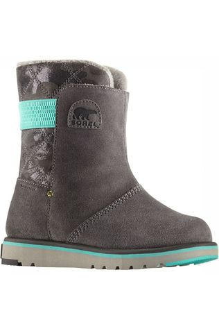 Sorel Rylee Camo Youth Winterschoen Junior Lichtgrijs/Turkoois