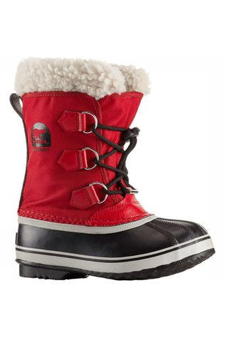 Sorel Yoot PAC Nylon Youth Laars Junior Rood/Zwart
